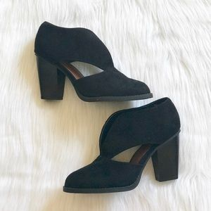 Black Cutout Ankle Booties